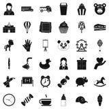 Iconos fijados, estilo simple de la guardería libre illustration