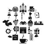 Iconos fijados, estilo simple de los partidos de los niños ilustración del vector