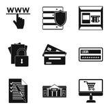 Iconos fijados, estilo simple del aislamiento de la información ilustración del vector