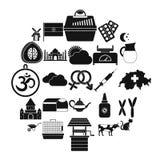 Iconos fijados, estilo simple del cultivo arable libre illustration
