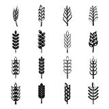 Iconos fijados, estilo simple del maíz del oído libre illustration