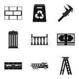 Iconos fijados, estilo simple del montaje en la pared libre illustration