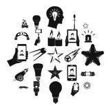 Iconos fijados, estilo simple del parpadeo libre illustration