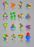 Iconos fijados para las aplicaciones web; Internet y Web site Imagen de archivo libre de regalías