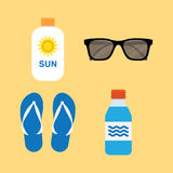 Iconos fijados, vector del verano Fotos de archivo libres de regalías
