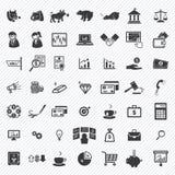 Iconos financieros comunes fijados Ilustración Fotografía de archivo