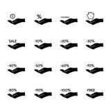 Iconos financieros y de la venta stock de ilustración