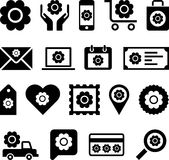 Iconos florales del web del negocio Fotografía de archivo