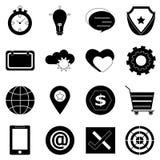 Iconos generales en el fondo blanco Fotografía de archivo libre de regalías