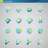 Iconos geométricos abstractos. stock de ilustración