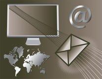 Iconos globales del email Foto de archivo libre de regalías