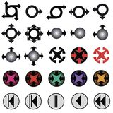 Iconos gráficos Foto de archivo libre de regalías