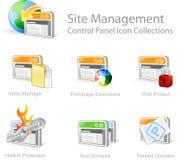 Iconos gráficos del Web Fotografía de archivo libre de regalías