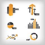 Iconos gráficos/elementos del Info Foto de archivo