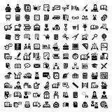 Iconos grandes de la educación fijados Imágenes de archivo libres de regalías
