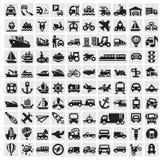 Iconos grandes del transporte Fotografía de archivo libre de regalías