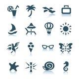Iconos grises de las vacaciones Imagen de archivo libre de regalías