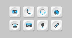 Iconos grises y azules del ordenador Imagen de archivo libre de regalías