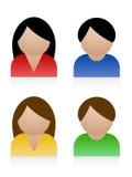 Iconos hembra-varón Imagen de archivo libre de regalías