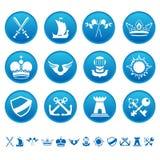 Iconos heráldicos Stock de ilustración