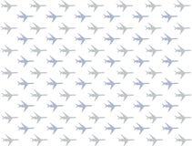 Iconos horizontales del aeroplano con fila de las turbinas del pastel gris azul libre illustration