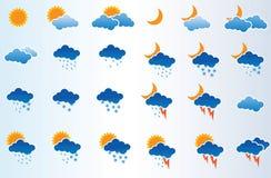 Iconos. Ilustraciones del vector. Foto de archivo libre de regalías