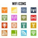 Iconos inalámbricos del vector fijados Libre Illustration