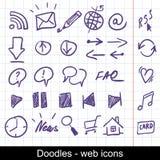 Iconos incompletos del Web Foto de archivo