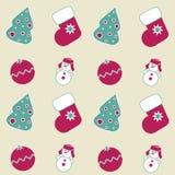 Iconos inconsútiles de la Navidad Imagen de archivo