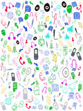 Iconos inconsútiles del Web del doodle Foto de archivo