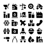 Iconos industriales 5 del vector Foto de archivo libre de regalías
