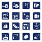 Iconos industriales fijados Fotos de archivo libres de regalías