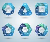 iconos infographic de la plantilla y del márketing del diseño 3D Smartphone i Imagen de archivo