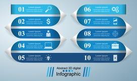 iconos infographic de la plantilla y del márketing del diseño 3D Fotos de archivo libres de regalías