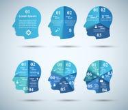 iconos infographic de la plantilla y del márketing del diseño 3D Icono principal Fotografía de archivo