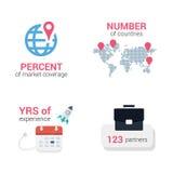 Iconos infographic del negocio Fotos de archivo