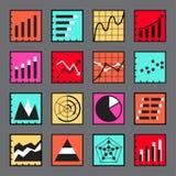 Iconos infographic del negocio fijados Imagen de archivo