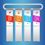 Iconos infographic del vector y del márketing del diseño de Colorfull plantilla moderna del infographics del negocio para la pági stock de ilustración