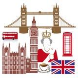 Iconos ingleses stock de ilustración