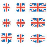Iconos ingleses de la bandera libre illustration