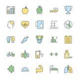 Iconos intrépidos 1 del vector de la aptitud Imagen de archivo libre de regalías