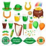 Iconos irlandeses del día del ` s de St Patrick fijados libre illustration