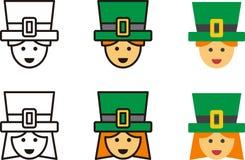 Iconos IRLANDESES del hombre y de la mujer stock de ilustración