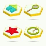 Iconos isométricos Imágenes de archivo libres de regalías