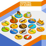 Iconos isométricos de las herramientas Fotografía de archivo libre de regalías