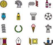 Iconos italianos Imágenes de archivo libres de regalías