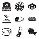 Iconos italianos del alimento Imagenes de archivo