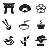 Iconos japoneses de la cultura Fotos de archivo libres de regalías