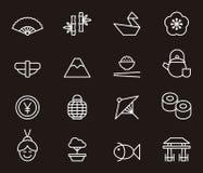 Iconos japoneses de la cultura | ROJO uno Fotografía de archivo libre de regalías
