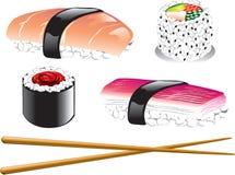 Iconos japoneses del alimento Imagenes de archivo